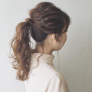 簡単ヘアアレンジ ゆるふわ 結婚式 ショート ヘアスタイルや髪型の写真・画像