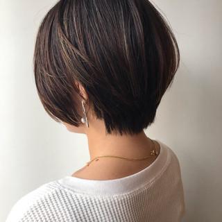 大人女子 ショート 女子力 ハイライト ヘアスタイルや髪型の写真・画像 ヘアスタイルや髪型の写真・画像