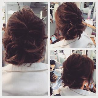 ヘアアレンジ くるりんぱ 結婚式 簡単ヘアアレンジ ヘアスタイルや髪型の写真・画像 ヘアスタイルや髪型の写真・画像