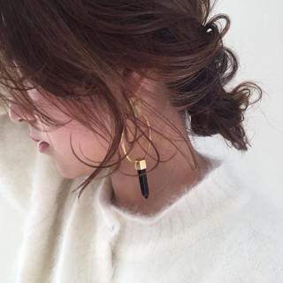 ロング ヘアアレンジ フェミニン ショート ヘアスタイルや髪型の写真・画像