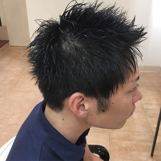 メンズ ウェットヘア ウェット感 メンズカット ヘアスタイルや髪型の写真・画像