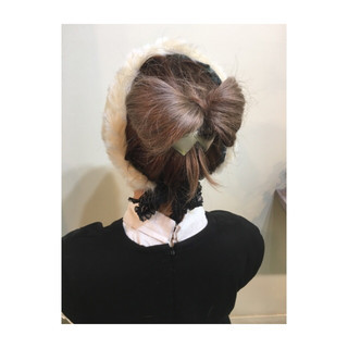 ショート ミディアム ヘアアレンジ ハーフアップ ヘアスタイルや髪型の写真・画像