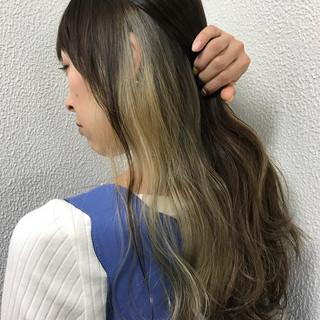 外国人風 ロング グラデーションカラー ハイライト ヘアスタイルや髪型の写真・画像 ヘアスタイルや髪型の写真・画像