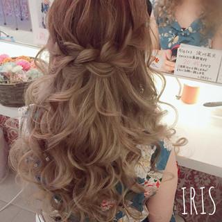 ロング ナチュラル 簡単ヘアアレンジ ヘアアレンジ ヘアスタイルや髪型の写真・画像 ヘアスタイルや髪型の写真・画像