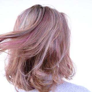 ブリーチカラー スポーツ ピンクパープル ストリート ヘアスタイルや髪型の写真・画像 ヘアスタイルや髪型の写真・画像
