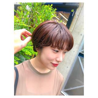 ショートボブ 小顔 似合わせ 秋 ヘアスタイルや髪型の写真・画像