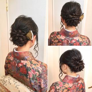 ヘアアレンジ 和装 アップスタイル ルーズ ヘアスタイルや髪型の写真・画像