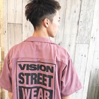 ストリート 2ブロック 黒髪 メンズ ヘアスタイルや髪型の写真・画像