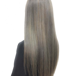 外国人風 ロング ハイライト ブリーチ ヘアスタイルや髪型の写真・画像