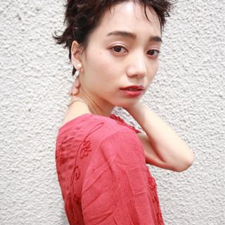 外国人風 ショート 簡単 ストリート ヘアスタイルや髪型の写真・画像