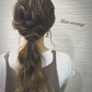 ロング ガーリー ハーフアップ ショート ヘアスタイルや髪型の写真・画像