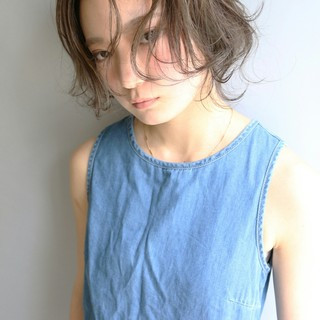 ロング ウルフカット 外国人風 ゆるふわ ヘアスタイルや髪型の写真・画像