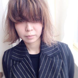 外国人風 外ハネ ボブ モード ヘアスタイルや髪型の写真・画像