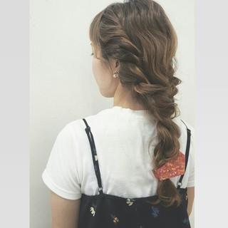 ショート ロング 波ウェーブ ヘアアレンジ ヘアスタイルや髪型の写真・画像