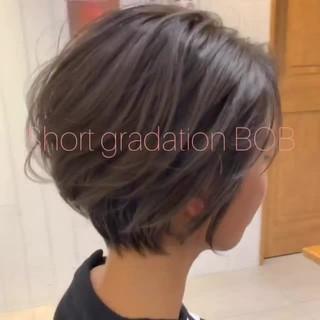 デート ナチュラル アンニュイほつれヘア ショート ヘアスタイルや髪型の写真・画像