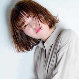 ナチュラル パーマ ボブ デート ヘアスタイルや髪型の写真・画像 ヘアスタイルや髪型の写真・画像