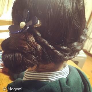 編み込み ロング ヘアアレンジ まとめ髪 ヘアスタイルや髪型の写真・画像