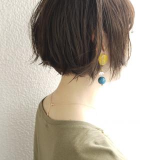 パーマ ボブ オフィス アッシュ ヘアスタイルや髪型の写真・画像