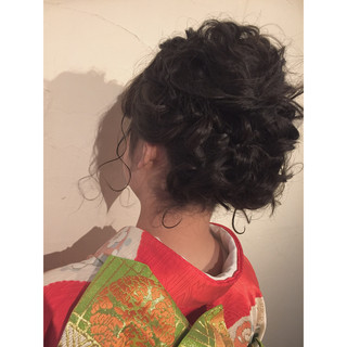 着物 成人式 ラフ ボブ ヘアスタイルや髪型の写真・画像 ヘアスタイルや髪型の写真・画像