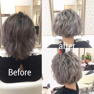 外国人風 ボブ 波ウェーブ グラデーションカラー ヘアスタイルや髪型の写真・画像 ヘアスタイルや髪型の写真・画像