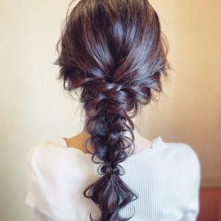 結婚式 お呼ばれ パーティ フェミニン ヘアスタイルや髪型の写真・画像