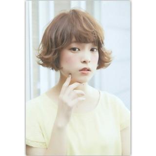 ナチュラル ゆるふわ 前髪あり パーマ ヘアスタイルや髪型の写真・画像