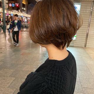 ハンサムショート ショートボブ ショートヘア ミニボブ ヘアスタイルや髪型の写真・画像