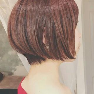 夏 グラデーションカラー ショート ナチュラル ヘアスタイルや髪型の写真・画像