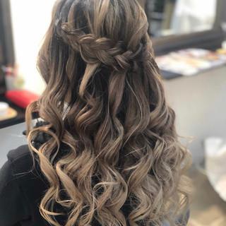 バレイヤージュ 結婚式 ナチュラル ヘアアレンジ ヘアスタイルや髪型の写真・画像 ヘアスタイルや髪型の写真・画像