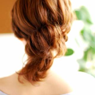 ゆるふわ ヘアアレンジ ミディアム 大人かわいい ヘアスタイルや髪型の写真・画像