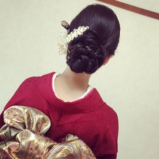 着物 上品 大人かわいい 和服 ヘアスタイルや髪型の写真・画像