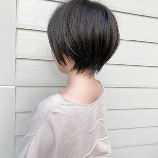 ショートヘア ショートボブ ナチュラル ミニボブ ヘアスタイルや髪型の写真・画像