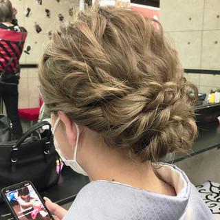 結婚式 着物 成人式 エレガント ヘアスタイルや髪型の写真・画像 | シンディー(店長)/shinji / hair make salon Revier