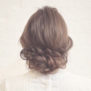簡単ヘアアレンジ ロング パーティ ショート ヘアスタイルや髪型の写真・画像
