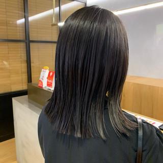 ナチュラル ミディアム 髪質改善 切りっぱなしボブ ヘアスタイルや髪型の写真・画像
