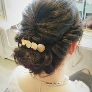 フェミニン 結婚式 ヘアアレンジ ショート ヘアスタイルや髪型の写真・画像 ヘアスタイルや髪型の写真・画像
