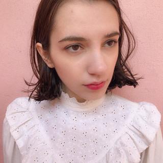 抜け感 大人かわいい ボブ パーマ ヘアスタイルや髪型の写真・画像