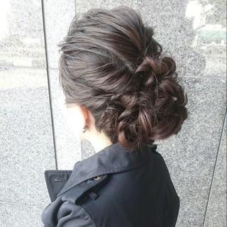 ゆるふわ セミロング ヘアアレンジ エレガント ヘアスタイルや髪型の写真・画像 ヘアスタイルや髪型の写真・画像