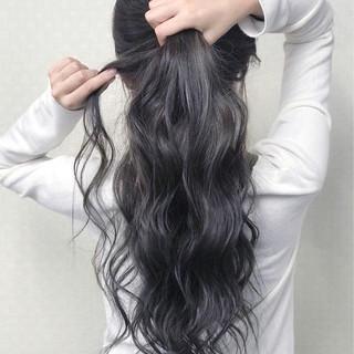 ロング ゆるふわ 3Dカラー ナチュラル ヘアスタイルや髪型の写真・画像