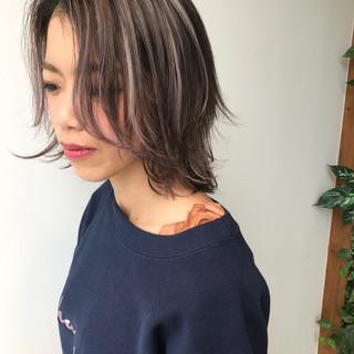 メッシュ デート ショート 女子会 ヘアスタイルや髪型の写真・画像