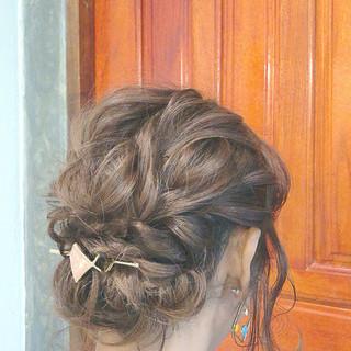 ゆるふわセット 浴衣ヘア 大人可愛い ミディアム ヘアスタイルや髪型の写真・画像