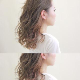 秋 ストリート アッシュ ミディアム ヘアスタイルや髪型の写真・画像