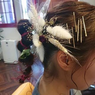 ミディアム ヘアピン お洒落 ヘアアレンジ ヘアスタイルや髪型の写真・画像