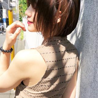 前髪あり 色気 女子力 シースルーバング ヘアスタイルや髪型の写真・画像