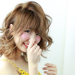 大人かわいい 渋谷系 ガーリー ミディアム ヘアスタイルや髪型の写真・画像