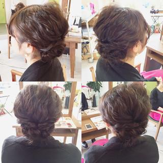 結婚式 大人かわいい ヘアアレンジ ショート ヘアスタイルや髪型の写真・画像