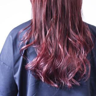 ラベンダーピンク ロング ラベンダー ベリーピンク ヘアスタイルや髪型の写真・画像