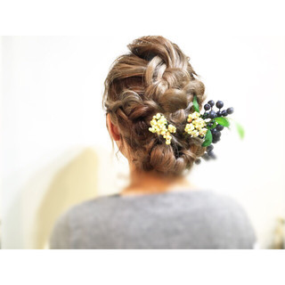 編み込み ショート 簡単ヘアアレンジ ミディアム ヘアスタイルや髪型の写真・画像