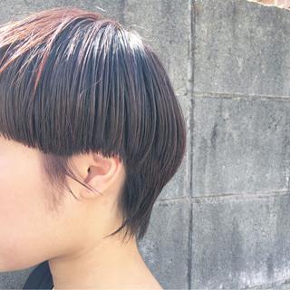 ウェットヘア 小顔 ナチュラル マッシュ ヘアスタイルや髪型の写真・画像