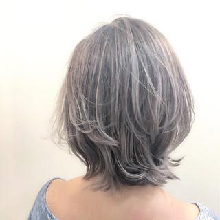秋 グラデーションカラー グレージュ ハイライト ヘアスタイルや髪型の写真・画像